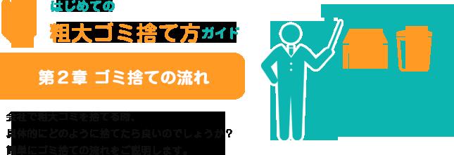 はじめての粗大ゴミ捨て方ガイド 第2章〜ゴミ捨ての流れ〜